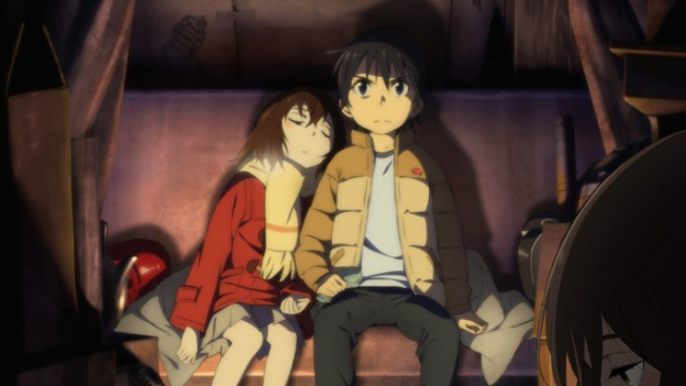 Boku dake ga inai machi fotograma del anime
