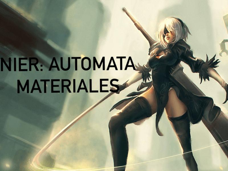 Nier Automata Materiales