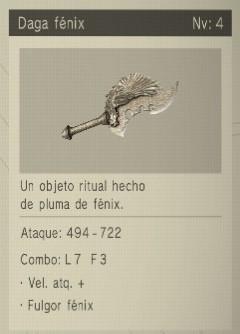 daga fenix Nier Automata Armas