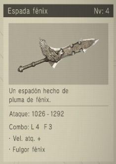espada fenix Nier Automata Armas