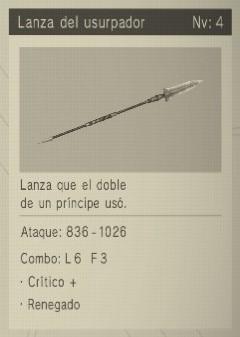 lanza del usurpador