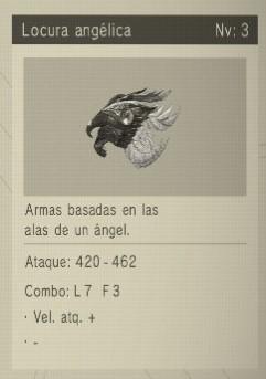 locura angelical Nier Automata Armas