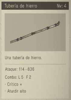 tuberia de hierro Nier Automata Armas