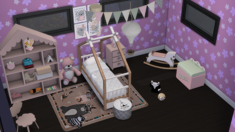 habitación infante lila