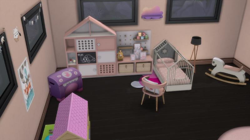 habitación infante rosa