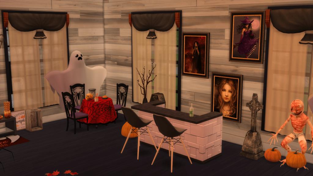 interior sims halloween