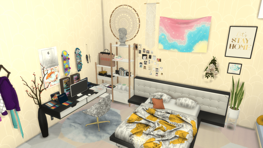 decoración habitacion sims 4