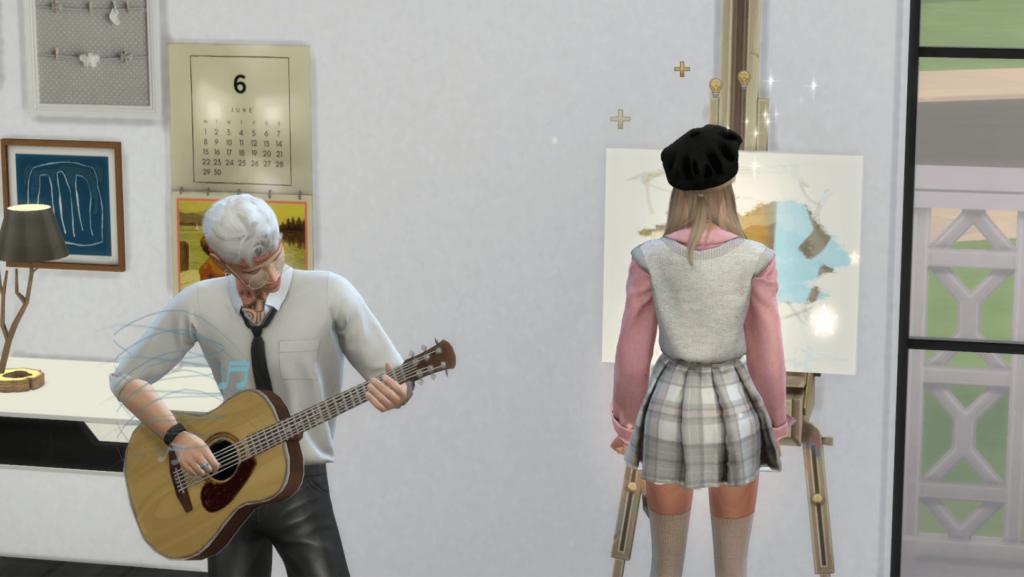 Una estrella del Kpop en Los Sims 4