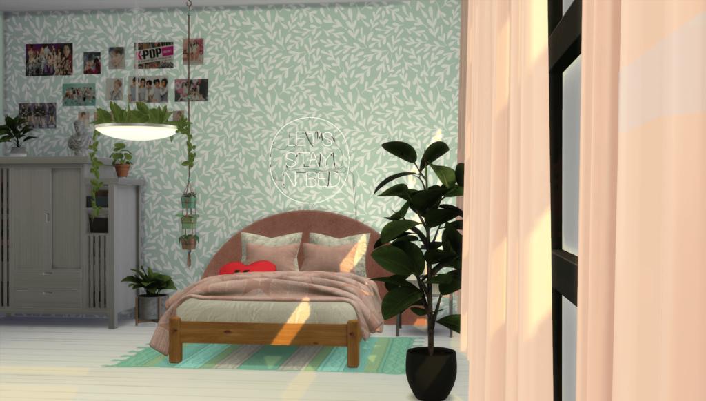Habitación femenina rosa cc Los Sims 4 fotopixel